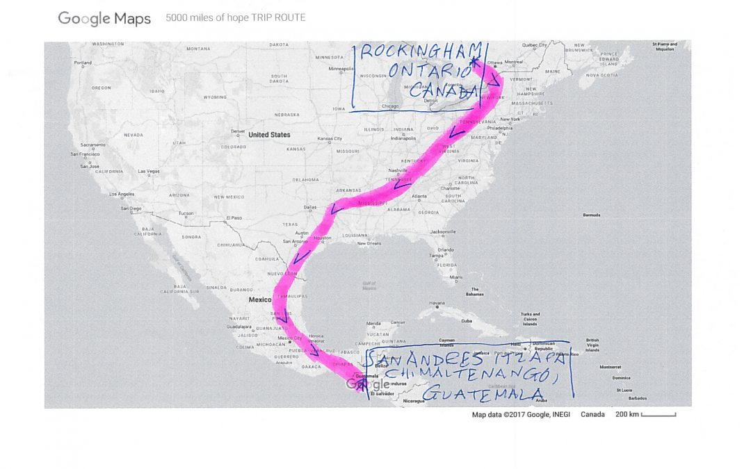 5000 Miles of Hope Trip Route
