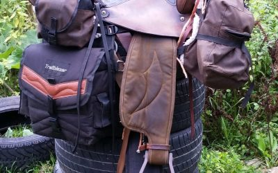 5000 miles of hope TRIP SADDLE and BAGS