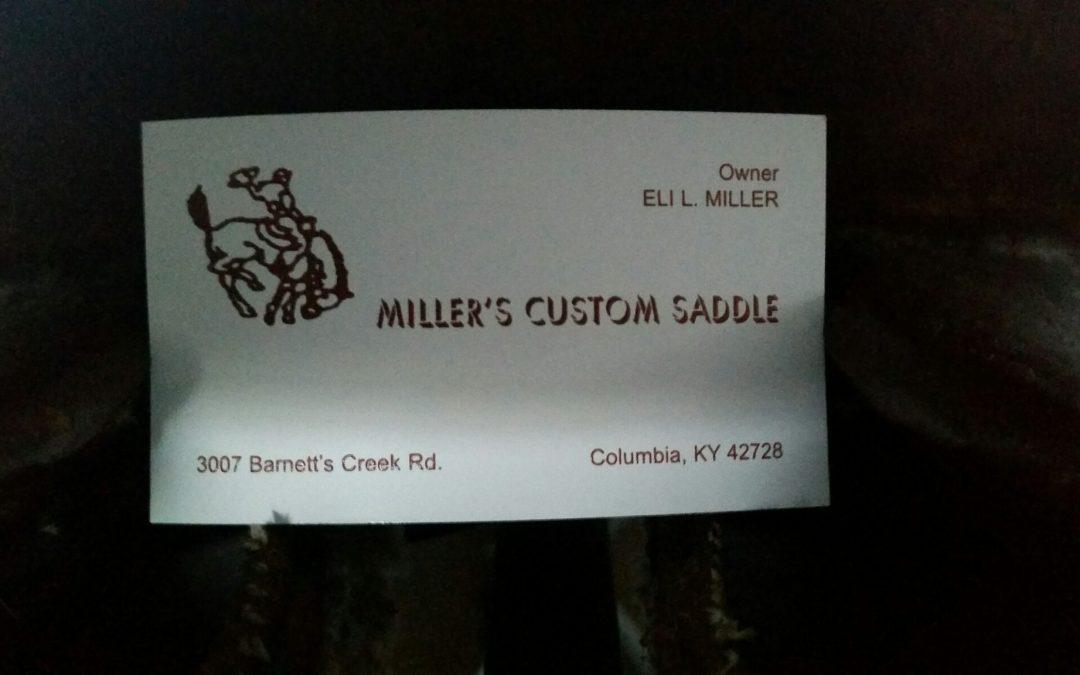 Eli Miller Custom Saddles